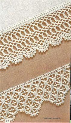 Crochet Boarders, Crochet Edging Patterns, Crochet Lace Edging, Crochet Diagram, Thread Crochet, Crochet Patterns Amigurumi, Filet Crochet, Crochet Designs, Crochet Doilies