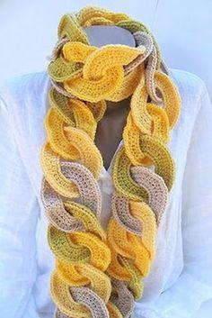 Como hacer Bufanda de Circulos de Crochet , Patrones Crochet
