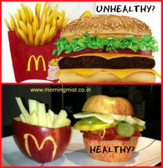 Only YOU have the power to control what goes into your mouth today Set your standards high because YOUR health is worth more than the junk. Seems to be alike why don't you stop JUNK food and start nutritional food?? http://www.morningmist.co.in/HomePage.aspx