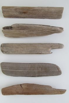 5 Thick & Flat Driftwood Pieces - Paddle Shaped Driftwood Plank Fragments - DIY Driftwood Wish List - DIY Driftwood Family Tree by LonelyBeach on Etsy