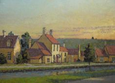Houses by the River, Cotswolds 30 x 40 .JPG 629×458 pixels