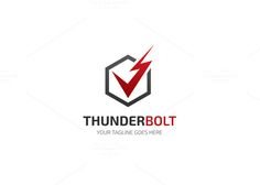 Thunder Bolt Logo by XpertgraphicD on Creative Market