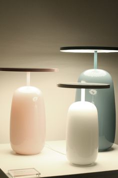 I love these lamps! (Anyone know the designer/source?)