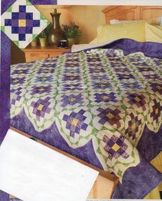 Shy Violets Quilt Pattern Pieced KL