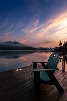 Blue Sunrise on Big Moose Lake, Adirondacks