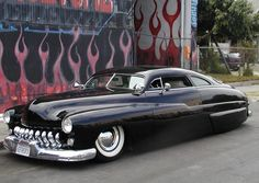 """The """"lead sled"""" is a subculture of American car customizing, represented here by the iconic Mercury sedan customs of the Fifties and Sixties. Lead Sled, Ford Motor Company, My Dream Car, Dream Cars, Hot Rods, F100, Vintage Cars, Antique Cars, Mercury Cars"""
