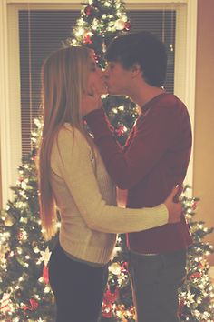 This would make a great picture for our first Christmas together. It would look so cute in front of our tree. And we already have the picture frame ornament to commemorate our first Christmas too.