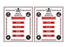Free Pirate Printables #freeprintables #pirateparty #invitations