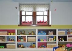 Toy shelf organization