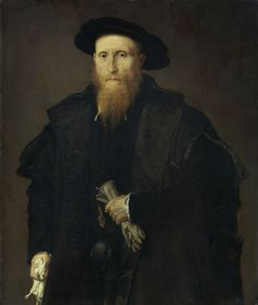 Lorenzo Lotto, with Gentleman Gloves (Portrait of Liberal from Pinedel?)