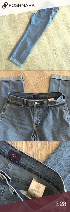 NYDJ boyfriend jeans Size: 6 Inseam: 27 Great condition Made in the USA Tummy tuck technology NYDJ Jeans Boyfriend