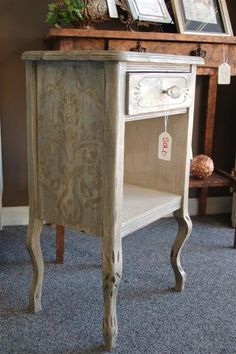 Stenciled softly at fabulous finishes
