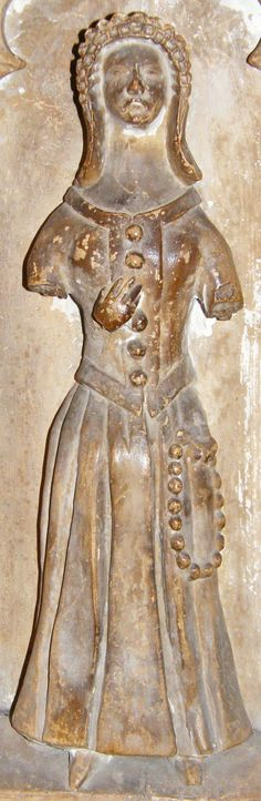Weeper of Thomas Beauchamp and wife Katherine Mortimer, Weeper 12 1369 http://www.themcs.org/costume/Female/Warwick%20-%20St%20Mary%20Thomas%20Beauchamp%201369%20and%20wife%20Katherine%20mortimer%201369%20weeper%2012%20female%2077.JPG