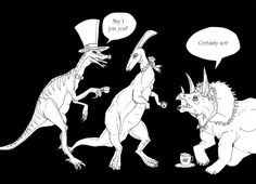 Dinosaurs Wearing Hats on Behance
