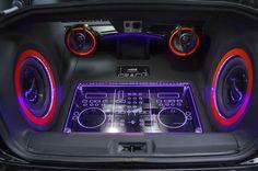 scion speaker system boombox ghetto blaster plexiglass install custom