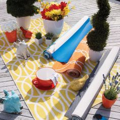 I don' t care if it is an outdoor rug - I love using outdoor rugs indoors to protect the hardwood from dog nails and it's easier to keep clean than a rug! Outdoor Life, Outdoor Rugs, Outdoor Living, Outdoor Blanket, Outdoor Decor, Outdoor Furniture, King Bed Frame, Urban Barn, Summer Time