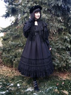 OP- Victorian Maiden fairy tale gathers dress Capelet and hat- antique Shoes- Qupid Necklace- voodooodolly Lolita Goth, Gothic Lolita Fashion, Punk Fashion, Asian Fashion, Vintage Fashion, Harajuku Fashion, Kawaii Fashion, Alternative Fashion, Alternative Dresses