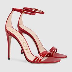 Buy your patent leather sandals Gucci on Vestiaire Collective, the luxury consignment store online. Second-hand Patent leather sandals Gucci Red in Patent leather available. Women's Shoes Sandals, Leather Sandals, Patent Leather, Red Shoes, Me Too Shoes, High Heel Boots, Heeled Boots, Hot Heels, Designer Heels