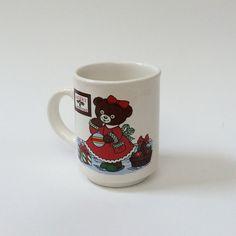 Vintage Teddy Bear Christmas Coffee Tea Mug, Lozapenco Chile by EastWestVintage1 on Etsy