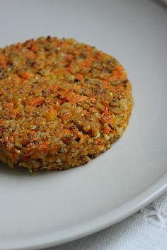 Galettes végétariennes aux pois chiches et carottes: excellent pour la santé et super bon!