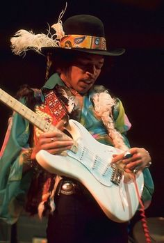 "James Marshall ""Jimi"" Hendrix (born Johnny Allen Hendrix; November 27, 1942 – September 18, 1970) was an American guitarist, singer, and songwriter. Although his mainstream career spanned only four years, he is widely regarded as one of the most influential electric guitarists in the history of popular music, and one of the most celebrated musicians of the 20th century. Hendrix aspirated his own vomit and died of asphyxia while intoxicated with barbiturates."