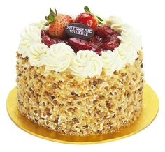 Patisserie Valerie Special Occasion Cakes Strawberry Gateau Vanilla Sponge Layered With Fresh Cream
