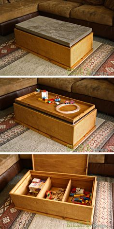 Build a Reversible Top Storage Coffee Table for $100 with @PureBond Plywood . Full Tutorial