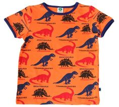 Smafolk Orange Dinosaurs T-shirt from the Smafolk Summer 13 collection