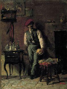 Marià Fortuny - Retrat del pintor Joaquim Agrassot, 1864 Eagle Artwork, Spanish Artists, Spanish Painters, Dutch Painters, British Museum, Renoir, Portrait Paintings, Zurbaran, Wikimedia Commons