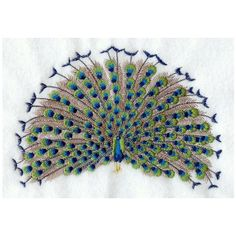 Machine Embroidery  - Peacock