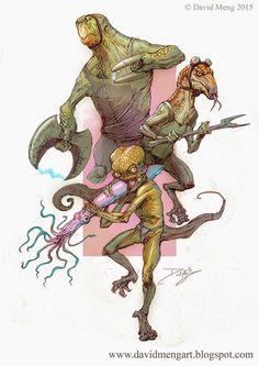 David Meng Art: Reptilians