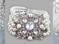 Wedding Jewelry Bridal Bracelet Pearl by SukranKirtisJewelry, $92.00
