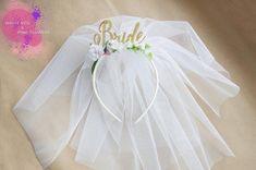 Bride Party headband Hen Party Crown Headband Veil headband | Etsy