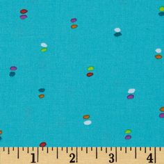 Michael Miller Melodies Double Dot Turquoise Fabric
