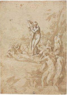 Francesco Mazzola, detto Il Parmigianino (Parma, 1503 – Casalmaggiore, 1540) - Il bagno delle Ninfe