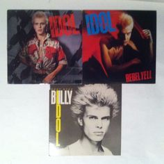 Billy Idol - Lot of 3_Self Titled/Rebel Yell/Don't Stop_Vinyl Record LP