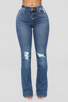 ea0ca2eb Post About It Flare Jeans - Dark Denim