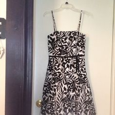 $68.00 Dress brand New still with tag. Cute summer dress. And it's very comfortable to wear. Black and white spaghetti strap. Brand-new still has the tags on it. BCX Dresses