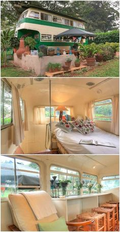 caravan renovation before and after 780811654131755657 - Old school bus was converted into a serene holiday home in Nairobi Source by bekahannemk Source by Bus Living, Tiny House Living, My House, School Bus House, Old School Bus, Caravan Renovation Before And After, Camper Renovation, Airstream Interior, Vintage Airstream