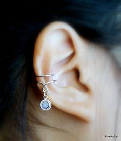 Ear Cuff with Swarovski Crystal Birthstones - $6.00