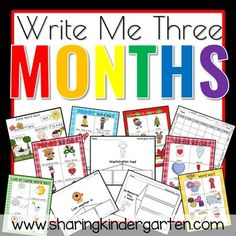 Monthly Writing - Sharing Kindergarten