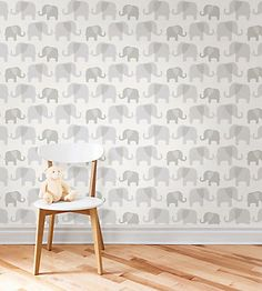 This pretty green and white baby wallpaper lends an enchanted storybook feel to a space. The charming forest scene includes elegant trees and friendly birds, artfully presented in a fresh leaf green palette. Design your prefect nursery with this temporary wallpaper, printed on a high performance peel & stick material that is simple to install and a breeze to remove.