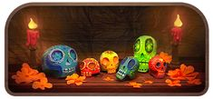 Day of the Dead 2018 Anne Neville, Elizabeth Woodville, Google Doodles, Halloween 2018, Scary Halloween, Happy Children's Day, Skull Painting, Game Concept, Child Day