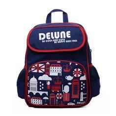 112f0f74a Delune Brand Kids Cartoon School bags Children Orthopedic School Backpacks  For Boys School Bags For 1