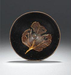 A fine and rare Konoha Temmoku tea bowl. Southern Song Dynasty, 12th/ 13th century.  Photo Sotheby's