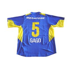 70767b7256  NIKE BOCA JUNIORS 2006 HOME PLAYERS VERSION GAGO JERSEY --- Boca Juniors  2006 home sphere dry player version shirt in royal