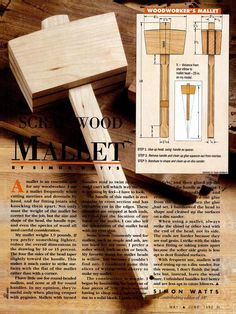 Woodworkers mallet. by Simon Watts, featured in May/June 1992 American Woodworker Magazine. via books.google.com
