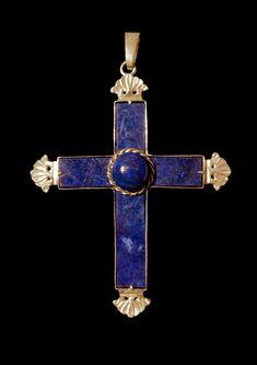 Ancient Jewelry, Antique Jewelry, Bishop Ring, Royal Crowns, Cross Jewelry, Crucifix, Lapis Lazuli, Cross Pendant, Jewelry Crafts