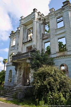 The Palace of Prince Smetsky built in 1913 - Abkhazia, Georgia. (former Soviet area) #ReclaimedArchitecture  https://www.facebook.com/ReclaimedArchitecture