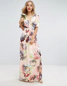 ASOS WEDDING Print Soft Flutter Sleeve Maxi Dress  Affiliate  teen fashion  style vacation beach 37ad3d40c